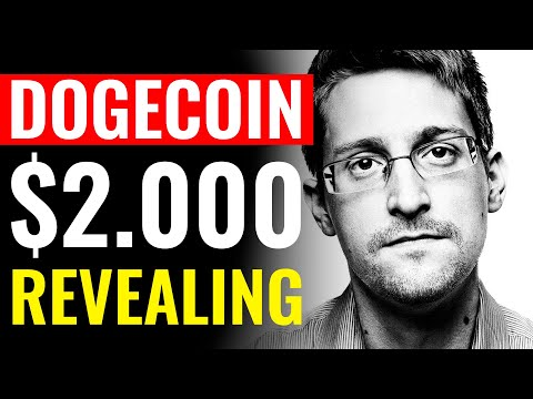 Edward Snowden REVEALS Why Dogecoin Will Hit $2.000   DOGECOIN PREDICTION
