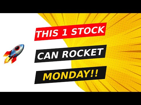 🚀 THIS 1 STOCK CAN START TO ROCKET MONDAY!! WATCH FAST!!