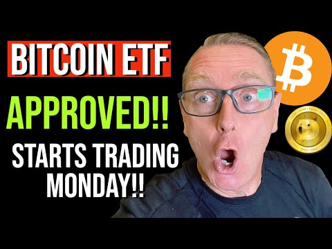 DOGECOIN:  HUGE BREAKING  NEWS!!! BITCOIN ETF HAS BEEN APPROVED! THIS WILL CHANGE EVERYTHING!!