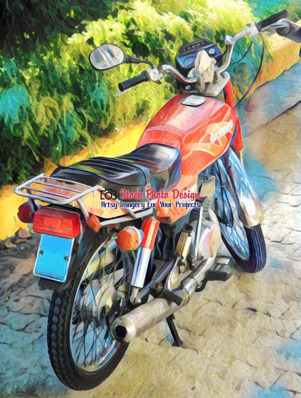 Vintage Cuban Motorcycle