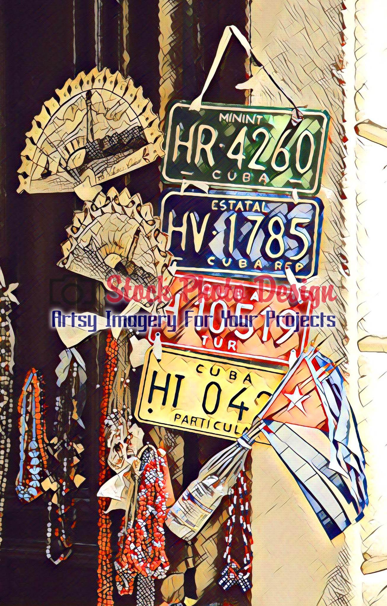Cuban Car Plates