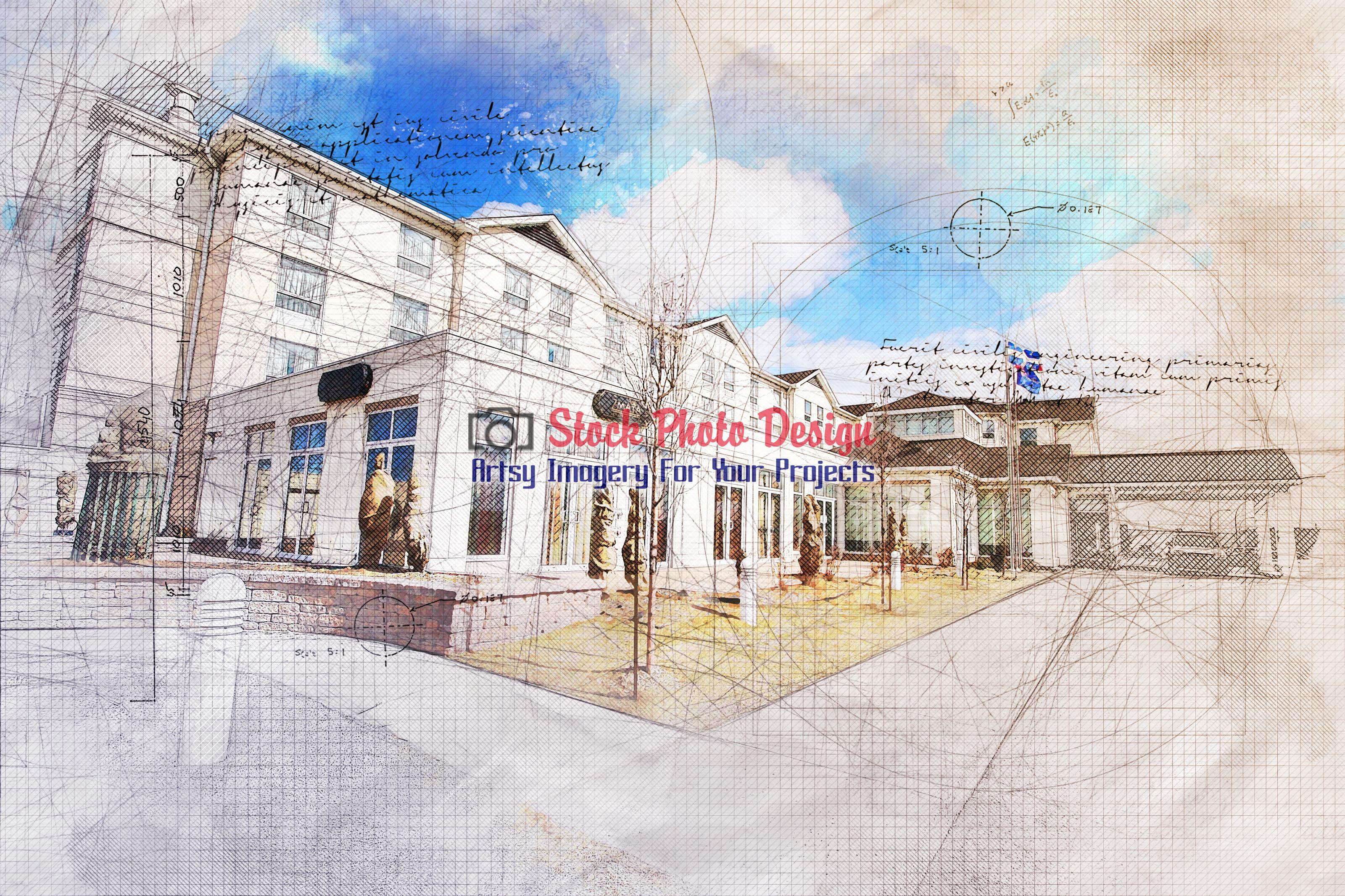 Modern Hotel Grunge Sketch 1