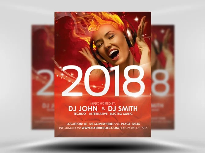 Free Free New Year\'s Eve Flyer Template - Stockpsd.net - Free PSD ...
