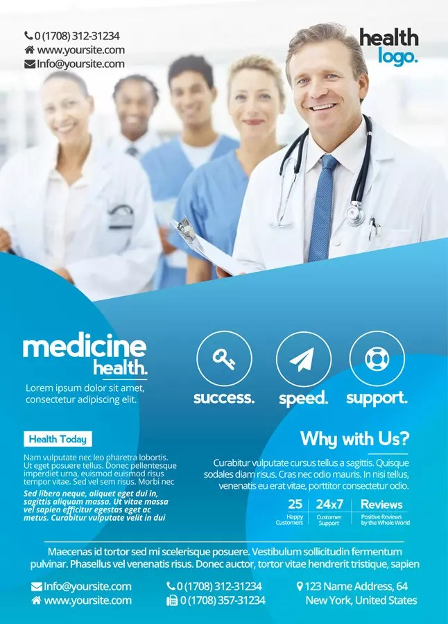 Business And Medicine Health Free PSD Flyer Template To Download Free PSD Flyer Templates