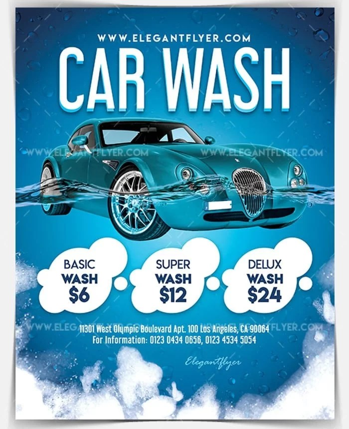 Car Wash Flyer Template Psd Free Carsjp