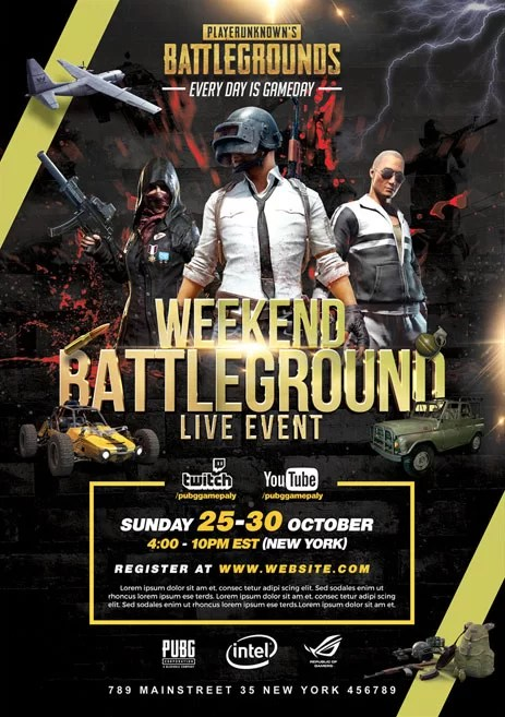 PUBG Tournament Free PSD Flyer Template Free PSD Flyer Templates Brochures Mockup Amp More