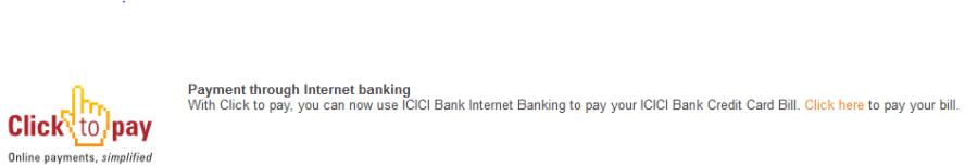 Credit Card Bill Through ICICI Net Banking