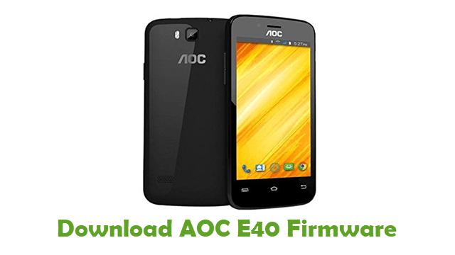 Download AOC E40 Firmware