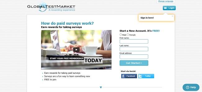 global test market online surveys to make money