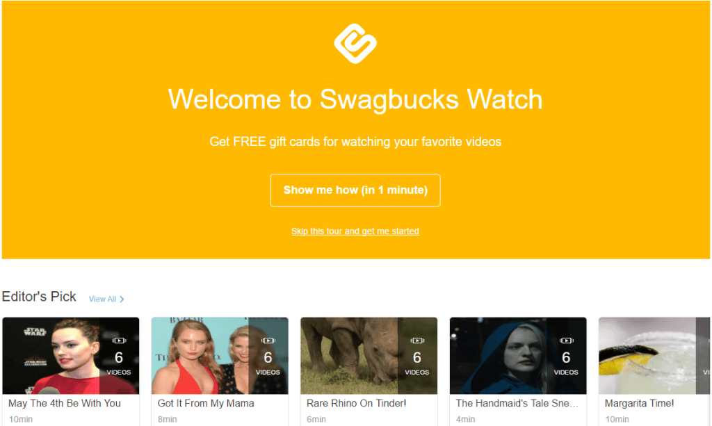 Swagbucks - Earn Rewards Online play