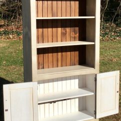 Amish Made Kitchen Cabinets Small Kitchens Ideas New Bookcase With Doors - Antique White Stock Swap ...