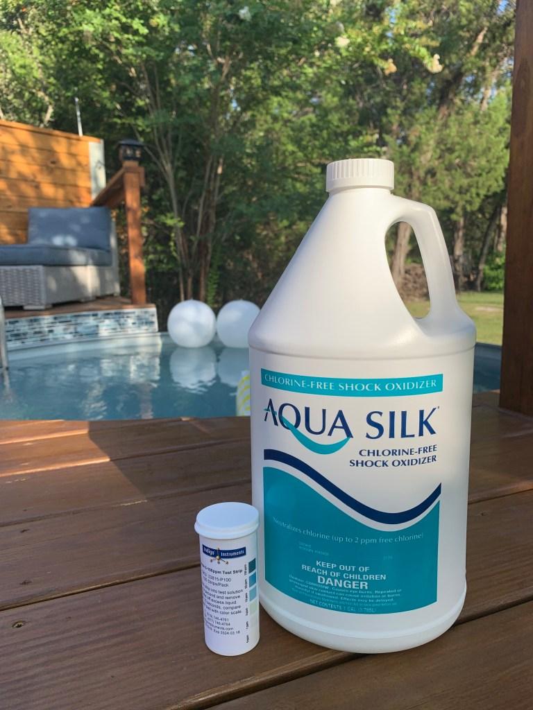 Aqua Silk Shock Oxidizer and Test Strips