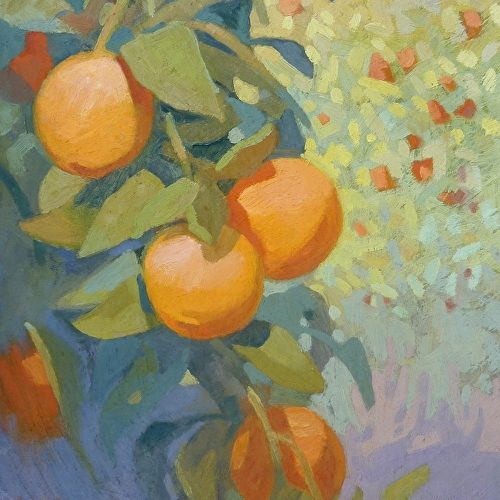January Oranges by Carolyn Lord
