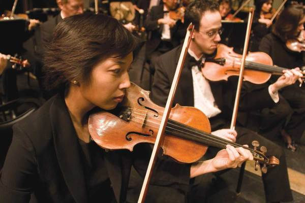 Orchestra players
