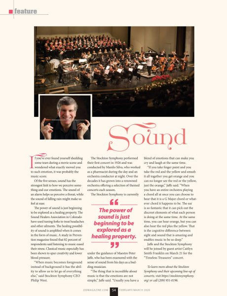 Stockton Symphony featured in 209 Magazine
