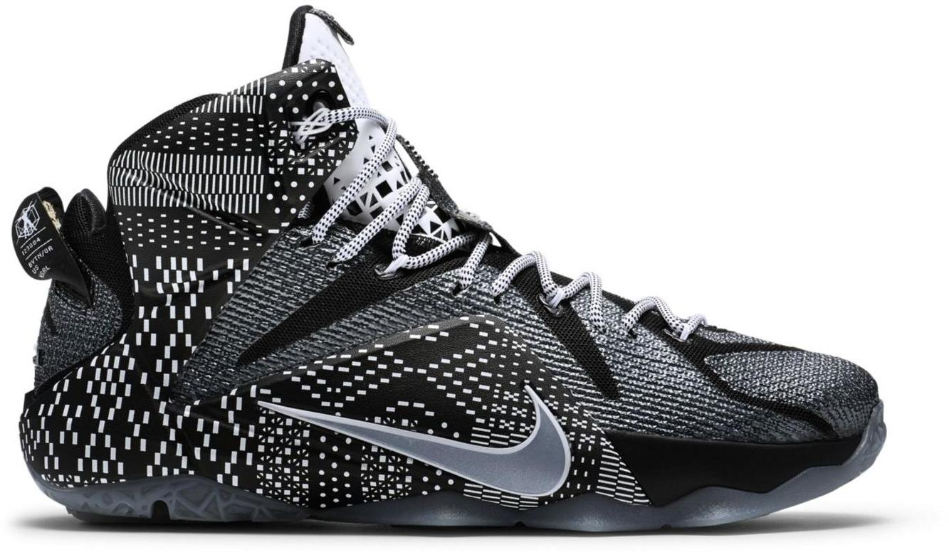 black and white lebrons