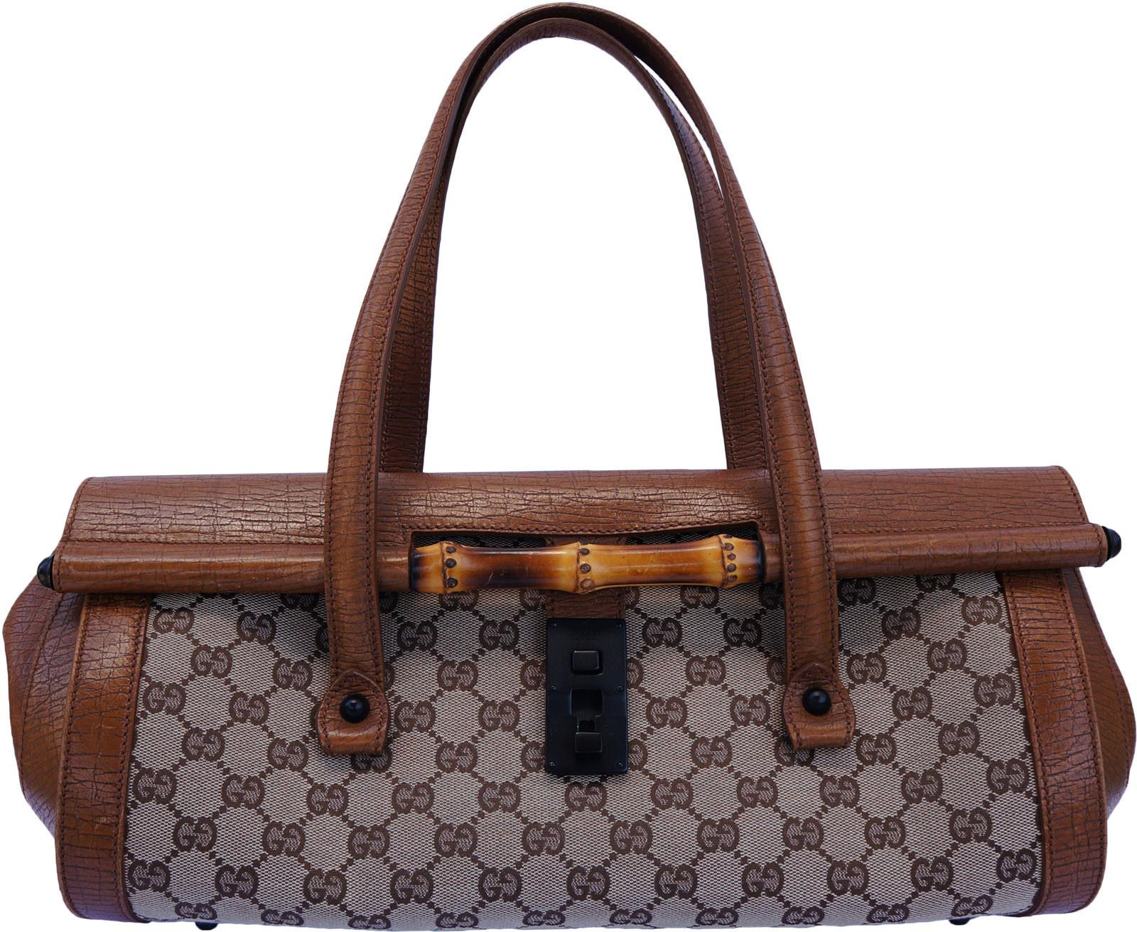 9a1aed66e29ca Gucci Bamboo Bullet Bag Shoulder Gg Brown Gray
