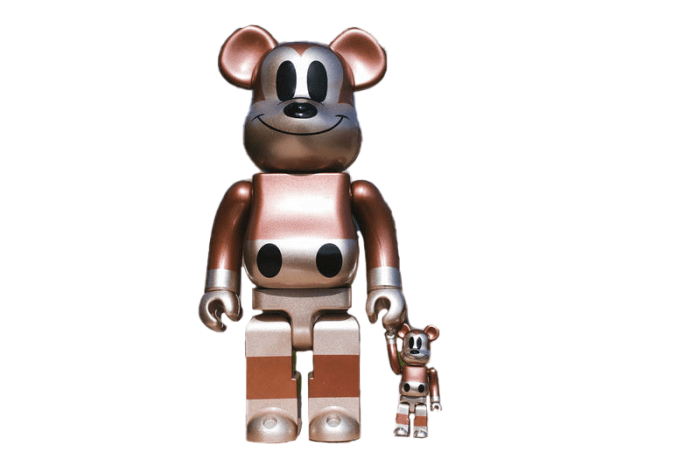 Bearbrick x Undefeated x Disney Mickey Mouse 90th Anniversary 100% & 400% Set Copper/Black - 2018