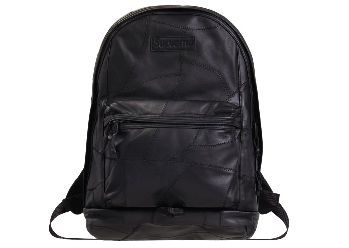 Supreme Patchwork Leather Backpack Black - FW19