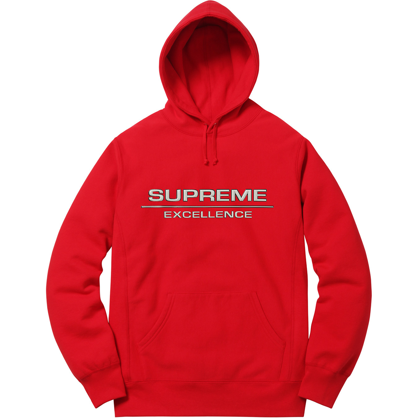Pre-Owned Supreme Reflective Excellence Hooded Sweatshirt Red   ModeSens