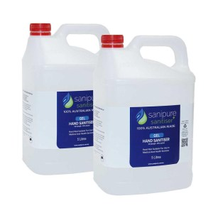 Sanipure Hand Sanitiser Gel & Liquid - 2 x 5L