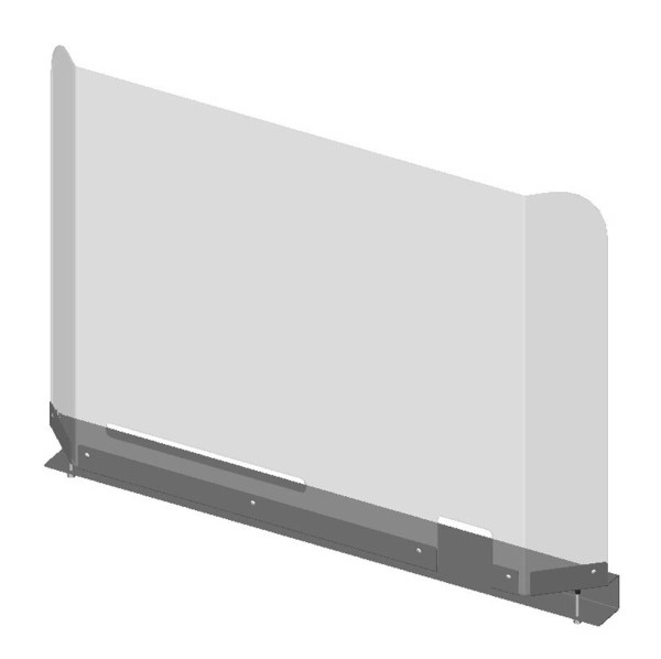 Sneeze Protection Screen - High Top Mount - Drawing