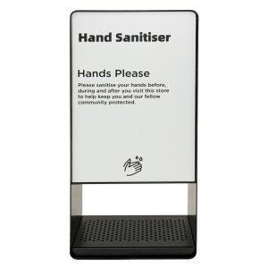 Black Pass Through Hand Sanitiser Dispenser - Front Facing