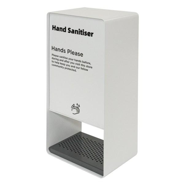 White Pass Through Hand Sanitiser Dispenser - Side Facing