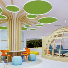 Indoor Kids Club Design Marriott Hotel Romazzino
