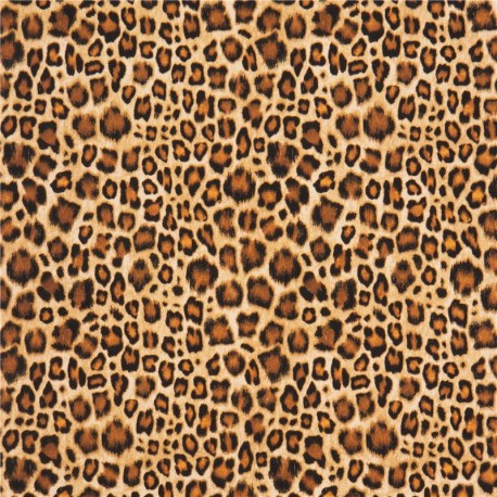 Black Animal Print Wallpaper Black Brown Leopard Spot Michael Miller Animal Flannel