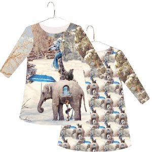 Stenzo Jersey Stoff Elefant
