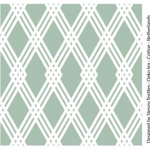 Stenzo Poplin grün und weiß
