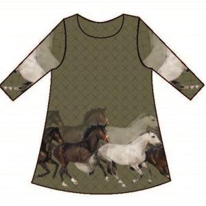 Stenzo Jersey Stoff pferde