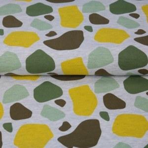 Stenzo Jersey Stoff grau gelb grün