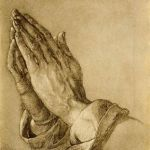 Praying Hands - copperplate engraving by Albrecht Durer