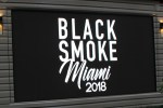 Black smoke Miami 2018 Night 3