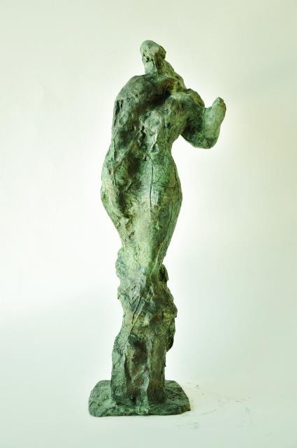 The Slave, bronze, back view