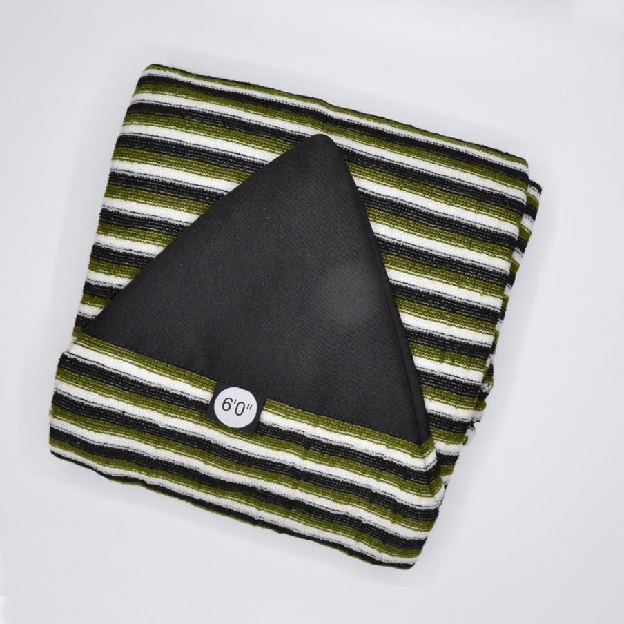 Surf Board Sock 6' green black white