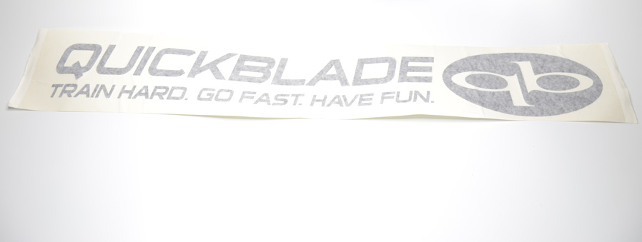 "Car Vinyl Qickblade ""Go Fast. Have Fun."""