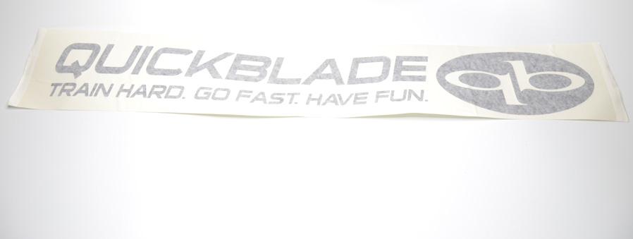 Quickblade Auto Aufkleber Train Hard. Go Fast. Have Fun.