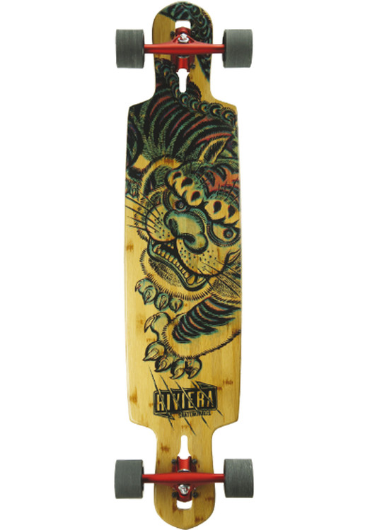 RIVIERA Kung Fu Kitty Longboard-komplett natural