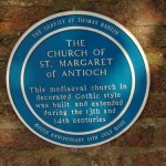 Blue Plaque for The Church of St Margaret of Antioch