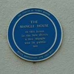 Blue Plaque for The Mangle House