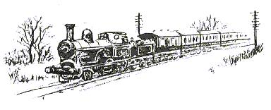 Sketch of steam train, Stoke Golding