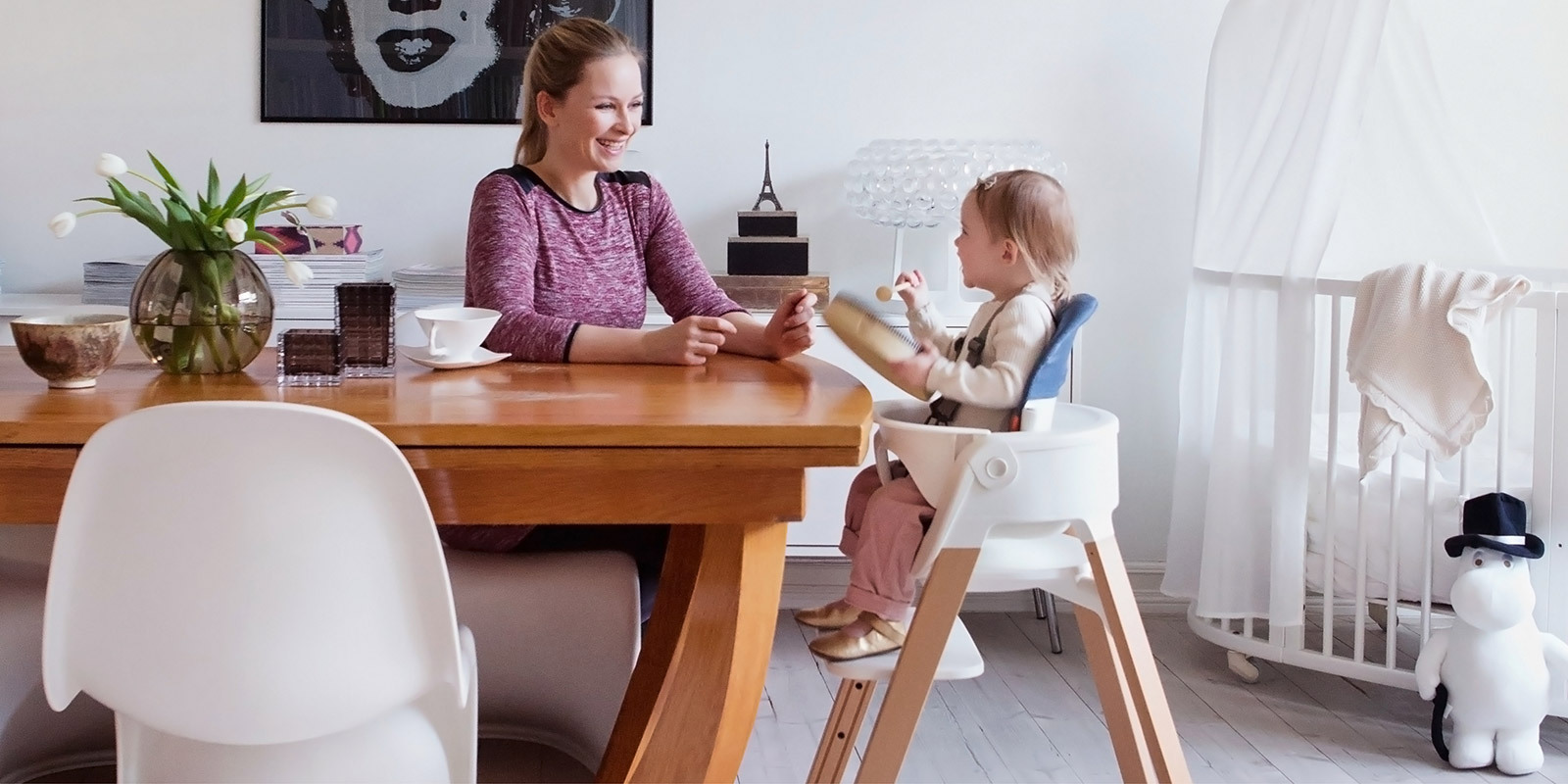 Stokke Steps High Chair Stokke Steps Natural With White Seat