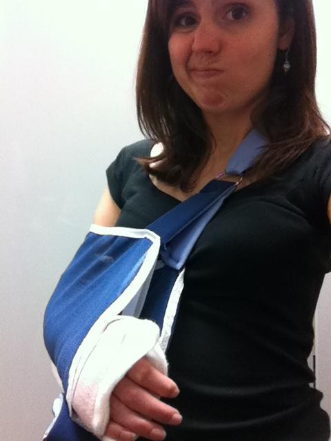 stephanie hughes splint broken arm radius ulna bones stolen colon crohns ostomy blog