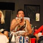 Joe Nicchi (Karl), Anthony Lerner (John McClane) and Natalie Lynch (Holly McClane) in 'Die Hard, A Drinking Game'