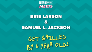 Photo of Brie Larson & Samuel L. Jackson Answer Kids' Questions
