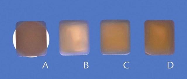 Образцы толщиной 1 мм на 3-х суррогатах абатментов и без суррогата (контроль)