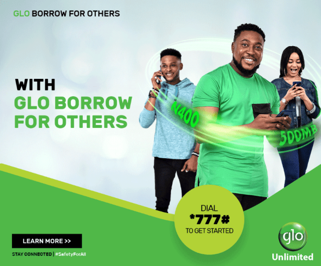 glo borrow credit data for others